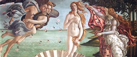 O nascimento de Vênus, 1483, Sandro Botticelli